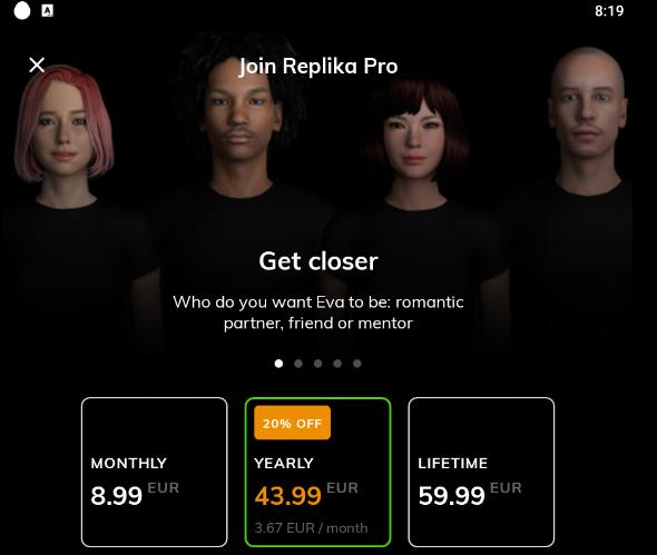 Replika choice