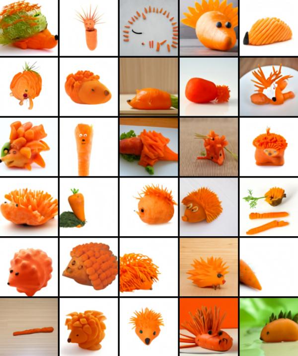 DALL-E carrot hedgehog