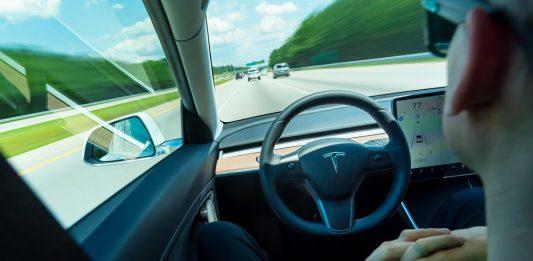 Autonomous driving in a Tesla